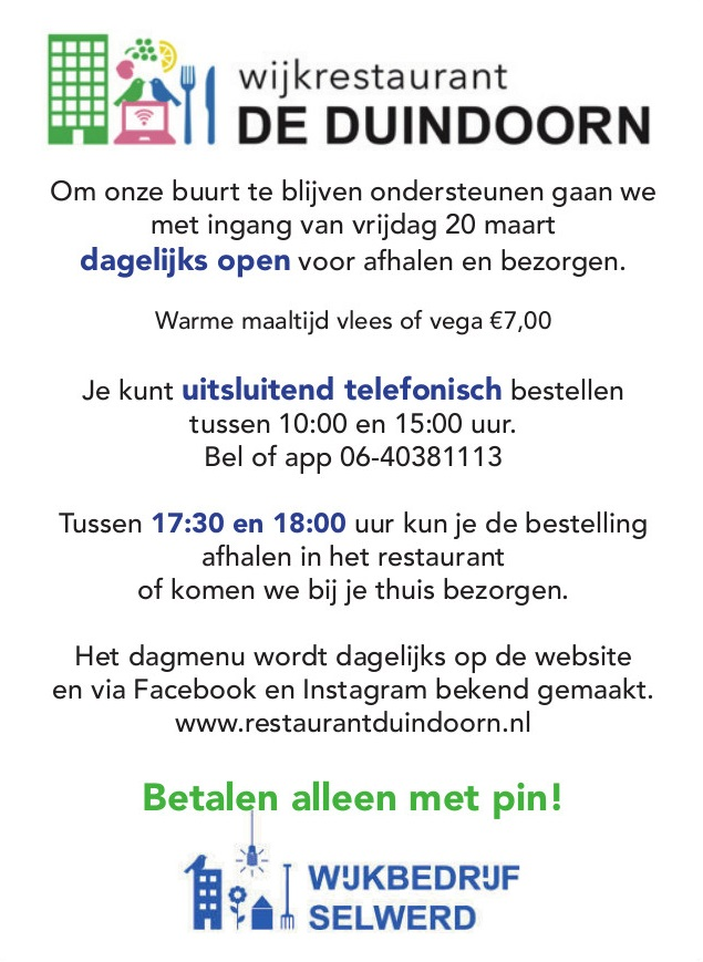 Duindoorn flyer heropening